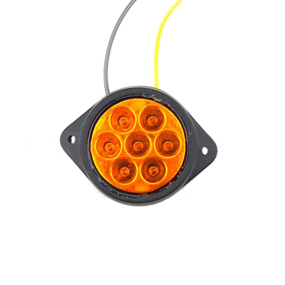 1 Pcs 7 LED Car Side Marker Light Clearance Lamp for 12V 24V Truck Trailer Caravan Red Yellow White in Car Light Assembly from Automobiles Motorcycles