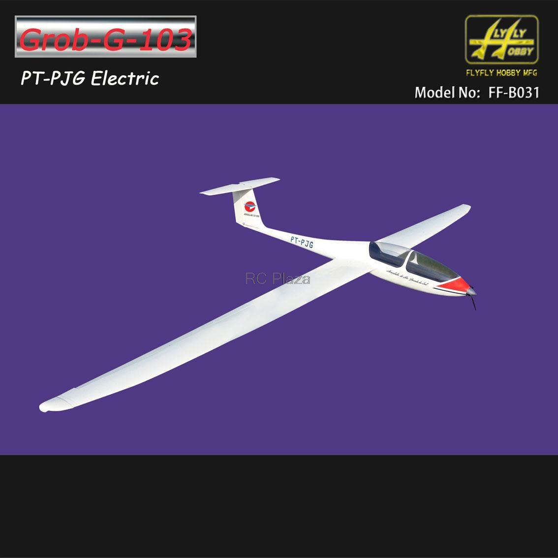 Grob-G-103 Électrique Planeur PT-PJG avec frein 3000mm ARF RC En Fiber De Verre Modèle Planeur
