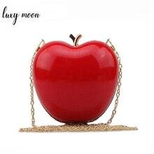 Bolso de mano con forma de fruta para mujer, cartera de mano con forma de fruta de gran oferta, bolso de noche para fiesta o boda, bolso de hombro con cadena de colores