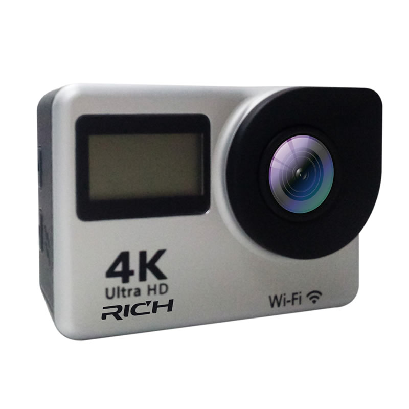 RICH 4K Action Camera T350 Ultra HD 2.7K/30fps 1080P/60fps Sports Camera DV 2.0 inch Touch Screen Wifi 30M Waterproof mini Cam