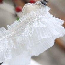 Эластичная кружевная отделка для одежды, свадебных платьев, Швейные аксессуары «сделай сам», 8 см х 1 м, белая