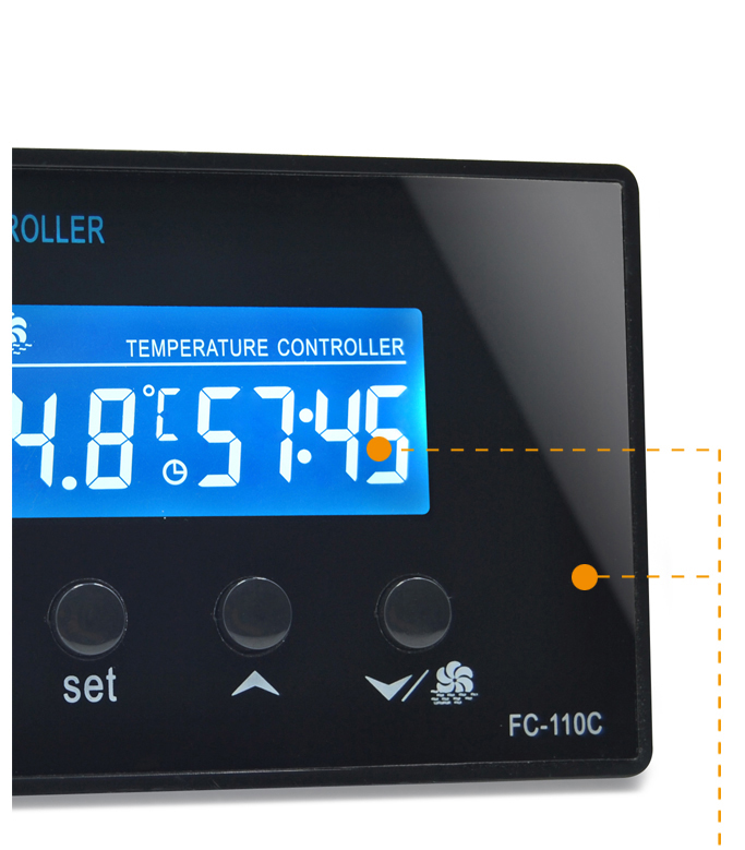 10A 220V Relay Output Controls  Sauna Thermostat Controller With NTC Sensor