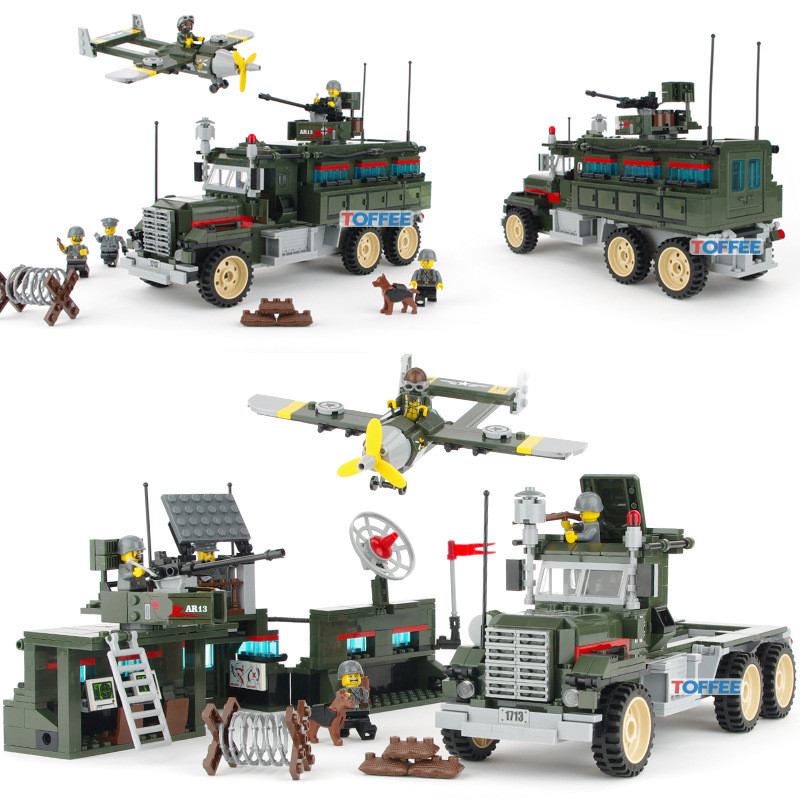 687pcs Mobile Strike Force Vehicle MILITARY WW2 Soldiers SWAT Model Army Car Building Blocks Figures Gift Toy for Children Boy