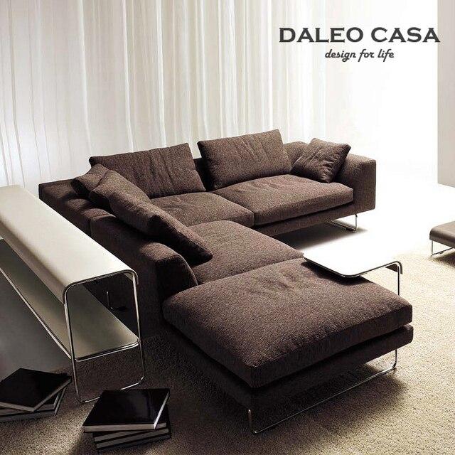 Milan Fashion Home Living Room Sofa Scandinavian Minimalist House Down Corner L Shaped Combination Ikea
