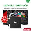 IPTV Frankreich Box TX6 Android 9.0 4G 64G mit 1 Jahr QHDTV IPTV Abonnement Belgien Niederlande Arabisch Französisch IPTV code Box-in Digitalempfänger aus Verbraucherelektronik bei