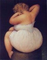 100% handgeschilderde Meisje olieverfschilderij Grote Abstracte Moderne Figuur olieverf Wit dikke vrouw Sexy naakt olieverf
