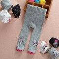 Calças do bebê das meninas Dos Meninos dos desenhos animados de malha marca busha pp calças de cintura elástica Leggings criança Crianças Roupas 3-24 M