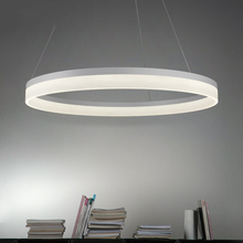 LICAN Modern Led lustre chandelier Acrylic Rings Circle White Black Pendant Chandelier for foyer kitchen dining room Chandeliers