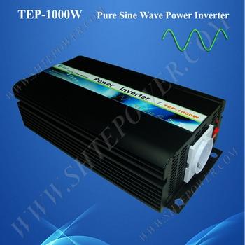 Однофазный инвертор с чистым синусоидальным излучением, 1000 Вт, постоянный ток 12 В ac 220 В