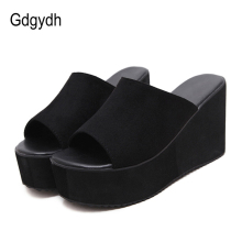 Gdgydh Summer Slip On Women Wedges Sandals Platform High Heels Fashion Open Toe Ladies Casual Shoes Comfortable Promotion Sale