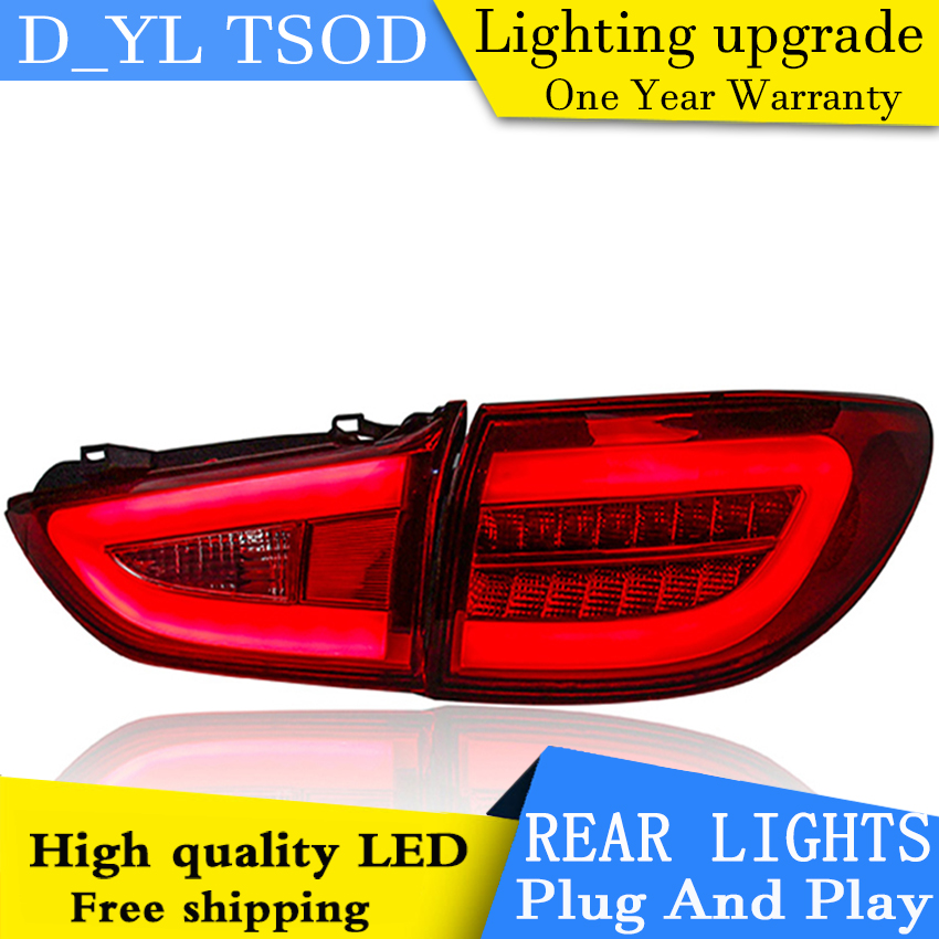One Stop Shopping Styling for Mazda 6 Tail Lights 2015 New Mazda6 Ateza LED Tail Light LED Rear Lamp DRL+Brake+Park+Signal