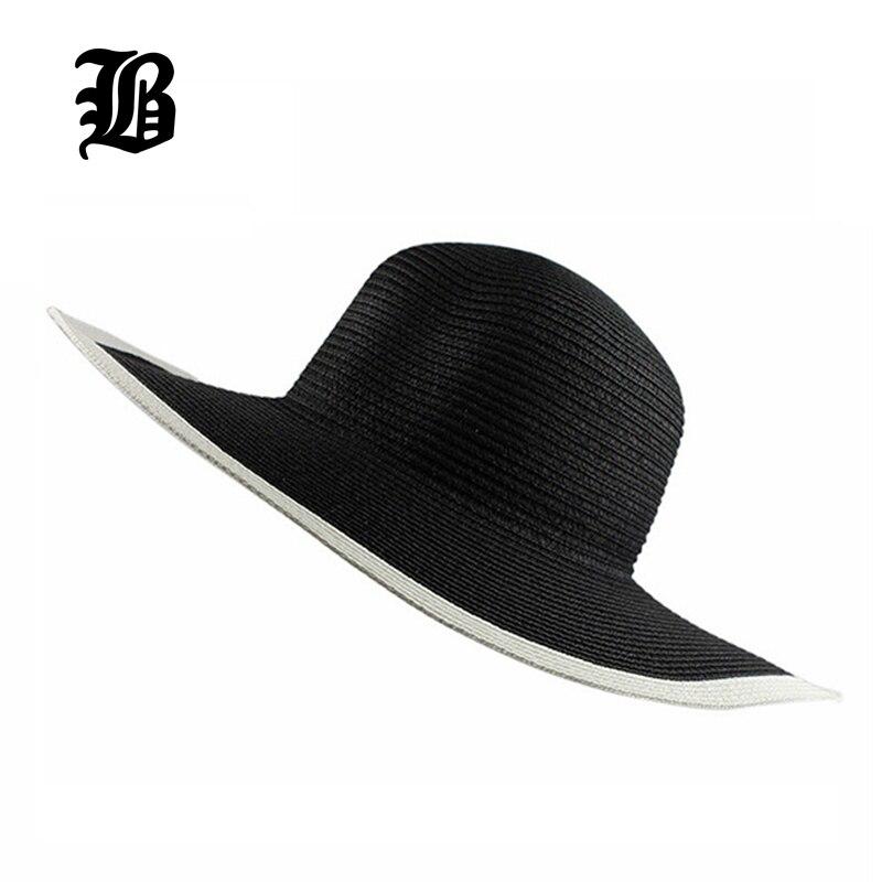 FLB  2017 mode Pantai matahari topi visor perempuan musim panas sun topi  wanita jerami 09ccf674b3