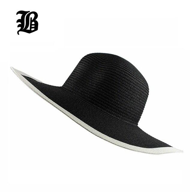 35c4e80b [FLB] 2017 fashion Seaside sun visor hat female summer sun hats for women  large straw sun hat folding beach girls wholesale