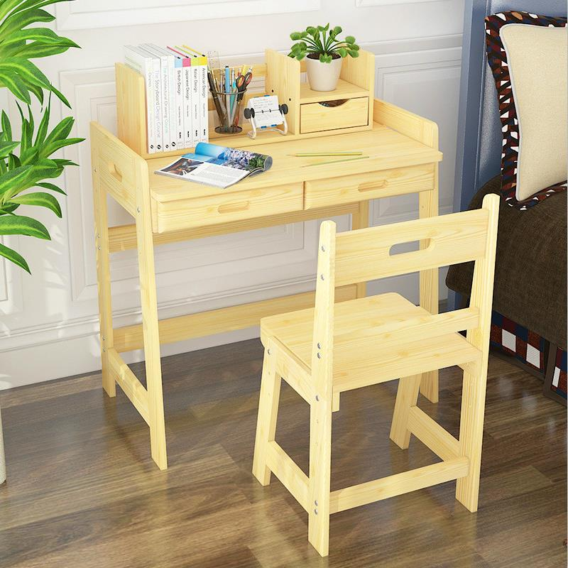 Multifunctional child learning desk and chair set can adjust the height of tables and chairs according to the height of children learning children s pupils writing desk chair set wooden home desks and chairs