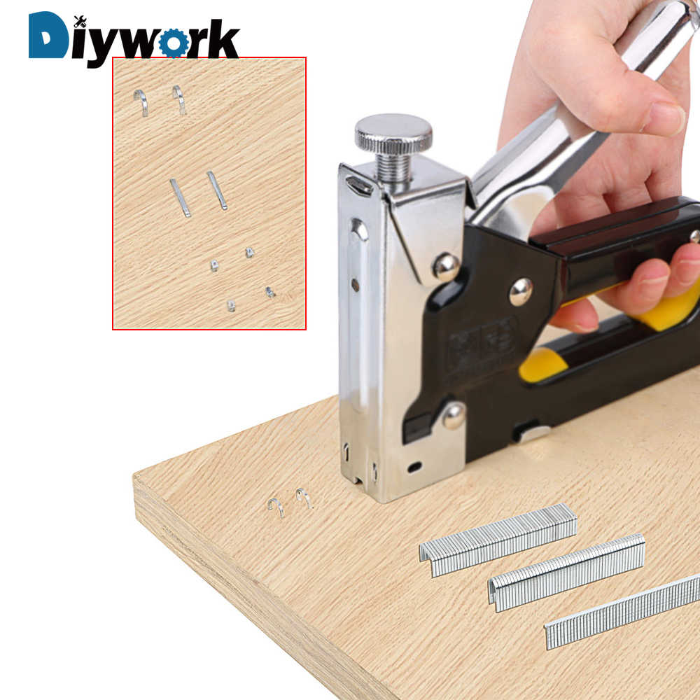 DIYWORK Floor Doors And Windows Staples Manual nailing Home Renovation Woodworking Nail Staple Gun U/ Door /T Shaped