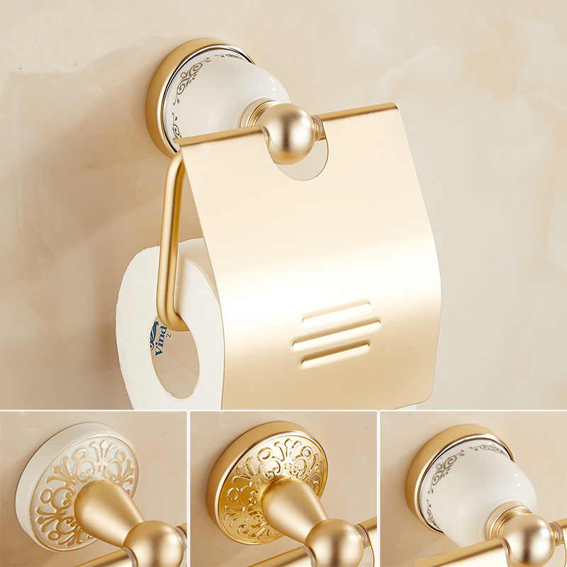 Space Aluminum Antique Gold Toilet Paper Holder, European Roll Paper Rack  Vintage, Retro Bathroom Kitchen Tissue Paper Holders