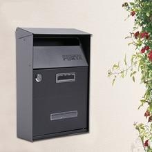 Железный почтовый ящик Садовые принадлежности Дом висячий почтовый ящик с замком ключевая буква коробка