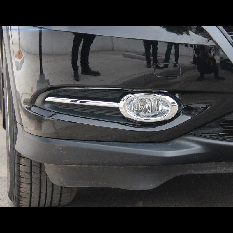 Chrome Rear Fog Light Lamp Cover Trim 2pcs For Mitsubishi Eclipse Cross 2018-19