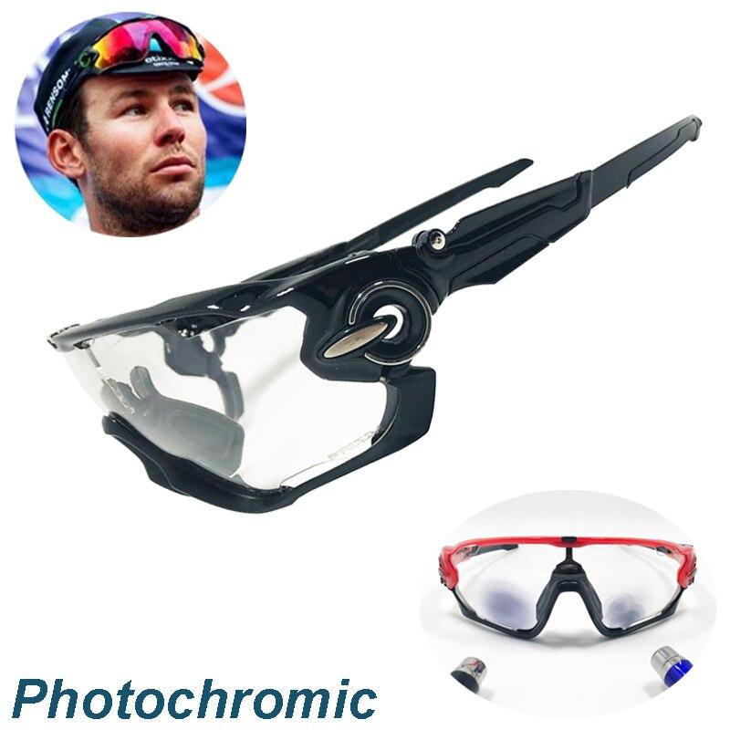цена на Men Polarized Sports Men Cycling Glasses 4 Lens Photochromic Cycling Eyewear Sunglasses Goggles With Myopia Frame