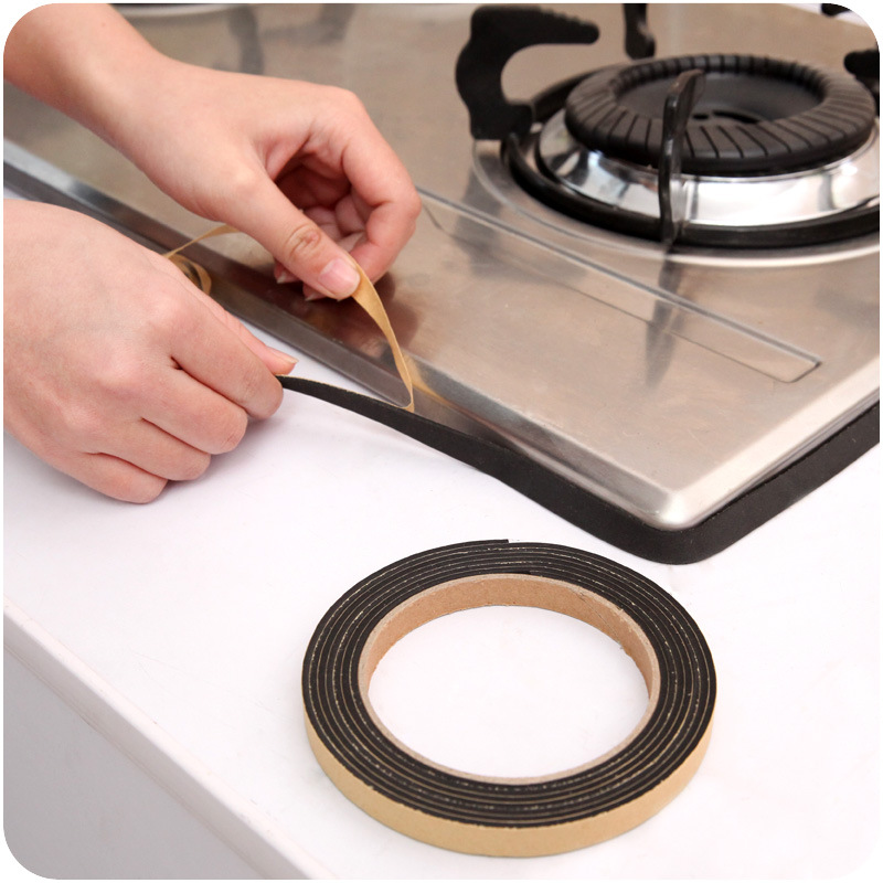 2m Single Sided Self Adhesive Seal Strip Door Window Foam Seal Tape Strip Collision Avoidance Sealing Strip