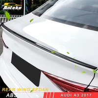 ANTEKE for Audi A3 2017 Car Styling Carbon Trunk Spoiler Rear Wing Tail Sedan Exterior Accessories
