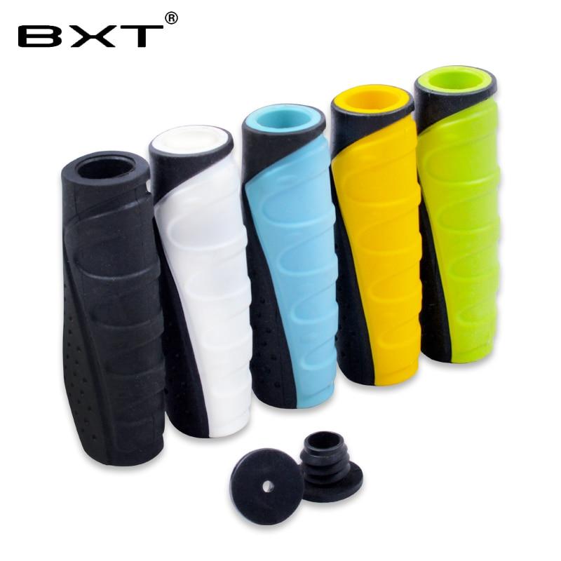2018 BXT duradero mtb bicicleta de montaña manillar empuñaduras manija de bloqueo barra de agarre extremo de goma barra cubierta bicicleta piezas accesorios