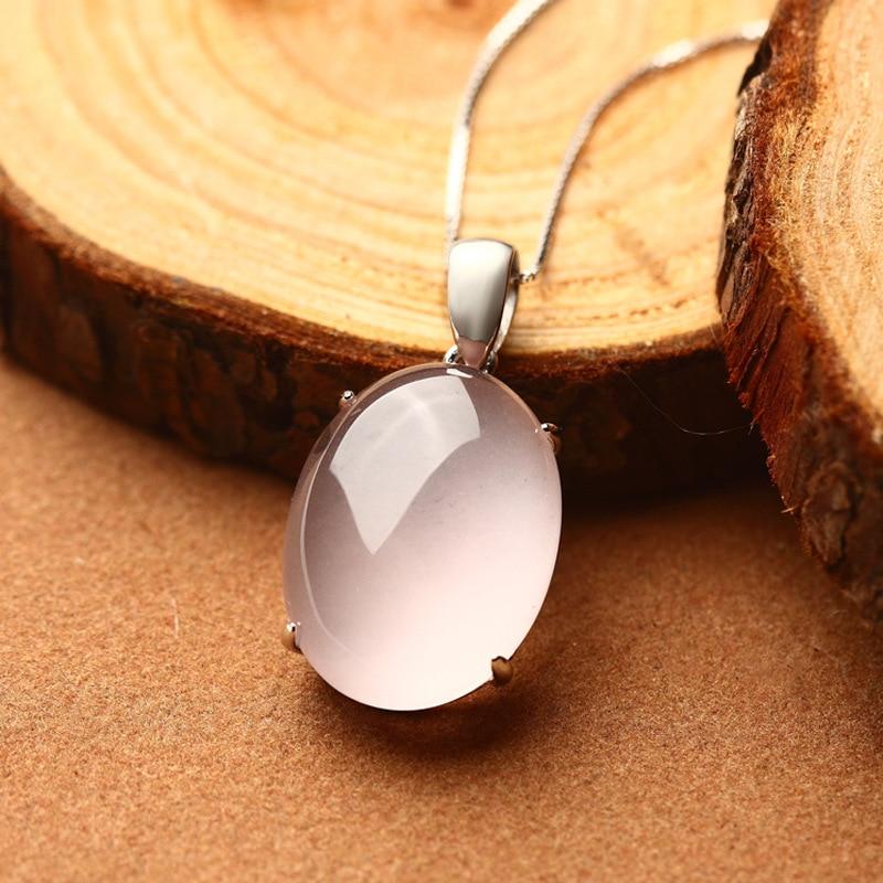 LouLeur 925 sterling silver rose quartz pendentifs naturel ros quartz rose pendentif en cristal pour les femmes charmes sauvages bijoux cadeau