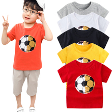 Kids boys girls t shirts with sequin color change face magic discoloration sequin top kids t shirt for boys 2-13 years цена 2017