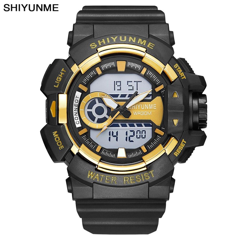 2018 Männer Quarz Digitale Uhr Männer Sport Uhren Relogio Masculino S Shock Uhren Led Military Wasserdichte Armbanduhren Modischer (In) Stil;