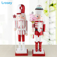Wooden Nutcracker Soldier Sweety Puppet Doll Desktop Ornaments Home Decoration Accessories Handcraft Child toy Christmas Gifts