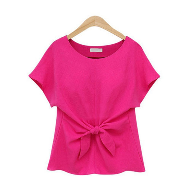 Womens Tops Loose Short Sleeve  Casual Chiffon Summer Shirts New