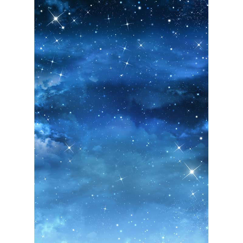 5x7ft vinyl dark night sky blue star photography