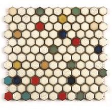 Kepinfy Шестигранная мозаика много цветов керамическая мозаика для стены кухни и ванной плитки