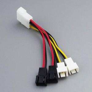 Image 5 - 1pcs 4 Pin Molex to 3 Pin fan Power Cable Adapter Connector 12V Computer Cooling Fan Cables for CPU PC Case Fan
