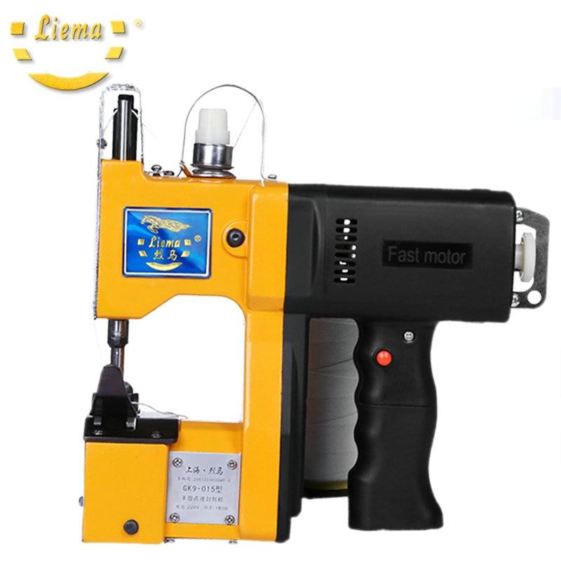 190W GK9-015 gun portable electric sewing machine, sewing machine, bag sealing machine, packing  taiwan 100 ma adcsy 19 35 pneumatic sealing machine sealing paper nail nailing gun sealing machine packing machine