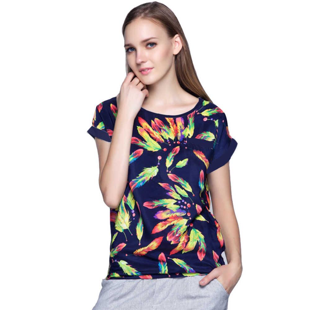 Blusa talla grande camisa XXXXL 6XL calidad + precio bajo estampado de pájaro moda Casual barata ropa de mujer Blusas marca verano