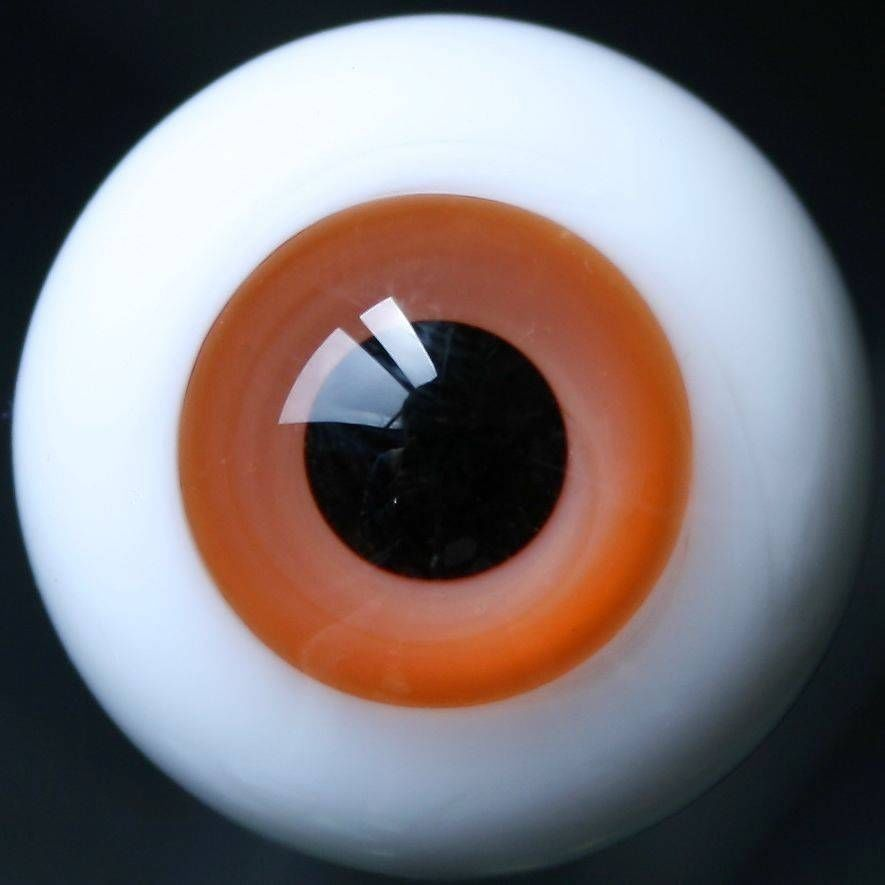 [wamami] 18mm Orange For BJD AOD DOD Doll Dollfie Black Pupil Glass Eyes Outfit