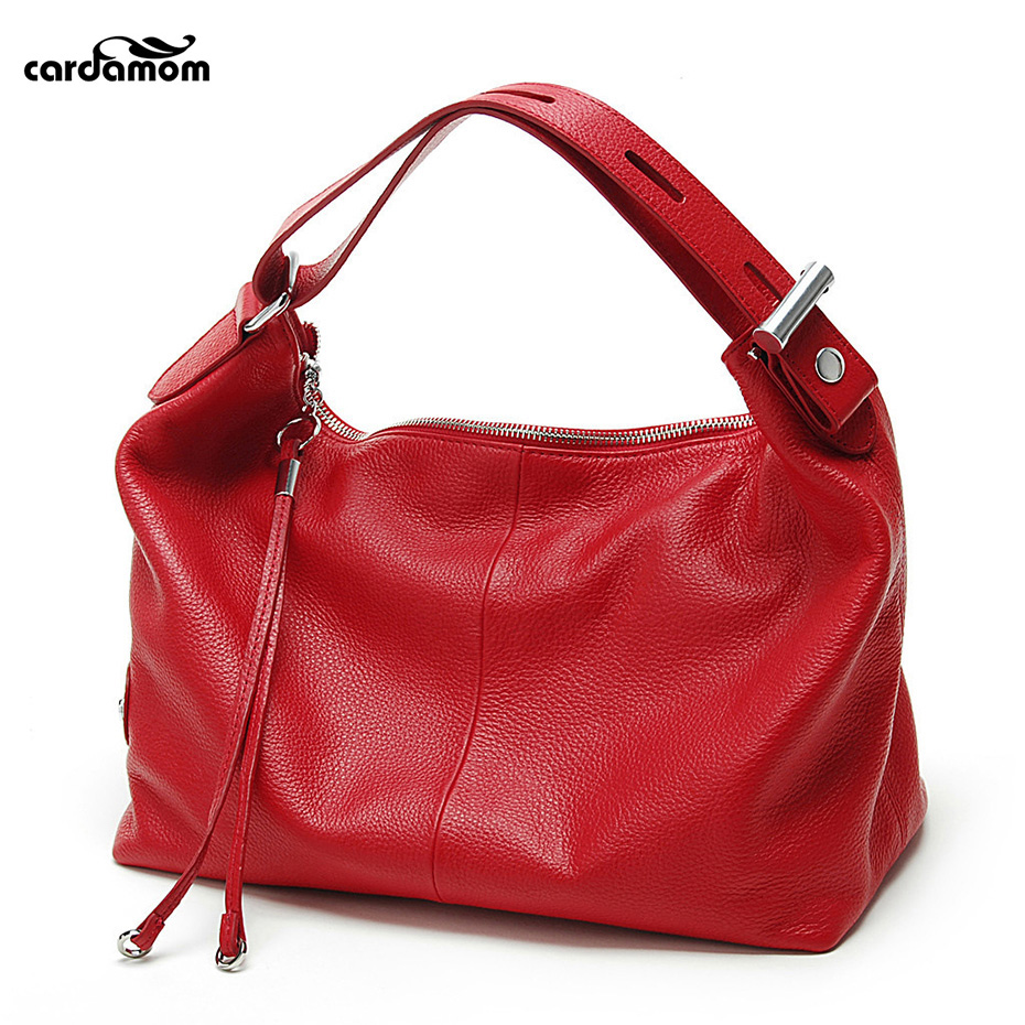 Cardamom Ladies Handbags Solid Genuine Leather Woman Crossbody Bags Advanced Cow Leather Fashion Soft Totes Beautiful Women Bag