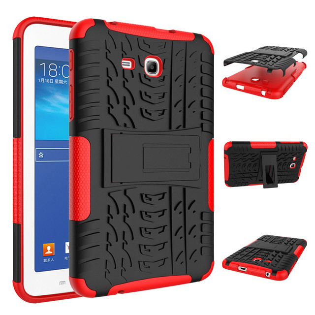 los angeles 44dac f7faa US $6.12 40% OFF|Tablet Cases For Samsung Galaxy Tab 3 Lite 7.0'' T110 Case  Hybrid Armor Shockproof Rugged Dual Layer Kistand Cover For SM T111-in ...