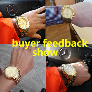 Image 2 - Часы наручные WWOOR мужские с большим циферблатом, брендовые Роскошные спортивные золотистые с хронографом, 2019, 2019