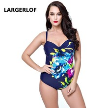 One Piece Swimsuit Large Size Swimsuit Sexy Swimwear Women's Bathing Print Bandage Monokini Women Bodysuit BK27055