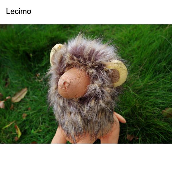 New Pet Cat Dog Wig Emulation Lion Hair Mane Ears Head Cap Autumn Winter Dress Up Costume Muffler Scarf Hot Sale
