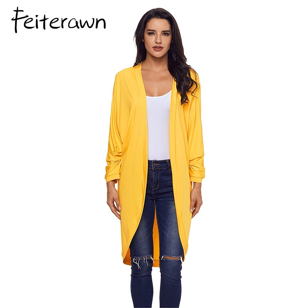 Feiterawn 2018 New Arrival Winter Womens Casual Relaxed Fit Long Cardigan DL85133 women Femme Favourite