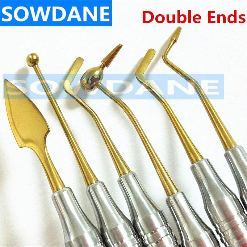 Набор для отбеливания зубов из композитной смолы, шпатель с титановым покрытием, набор наполнителя из смолы, стоматологический инструмент, ...