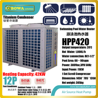 12P air source heat pump water heater is designed for 60~90sqm swimming pools in schools, colleges and universities