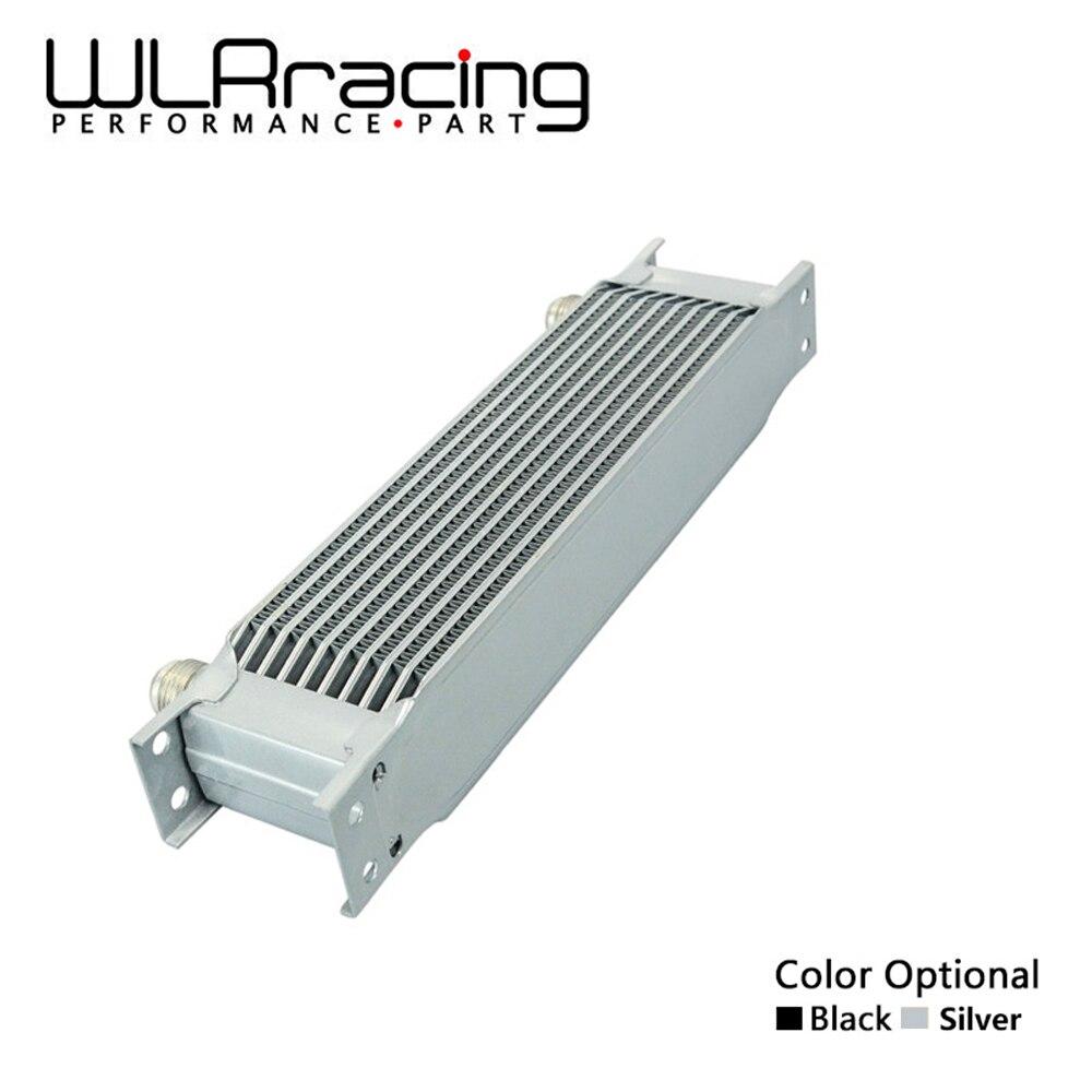 Wlr racing-alumínio universal motor transmissão an10 refrigerador de óleo 10 linhas wlr7010