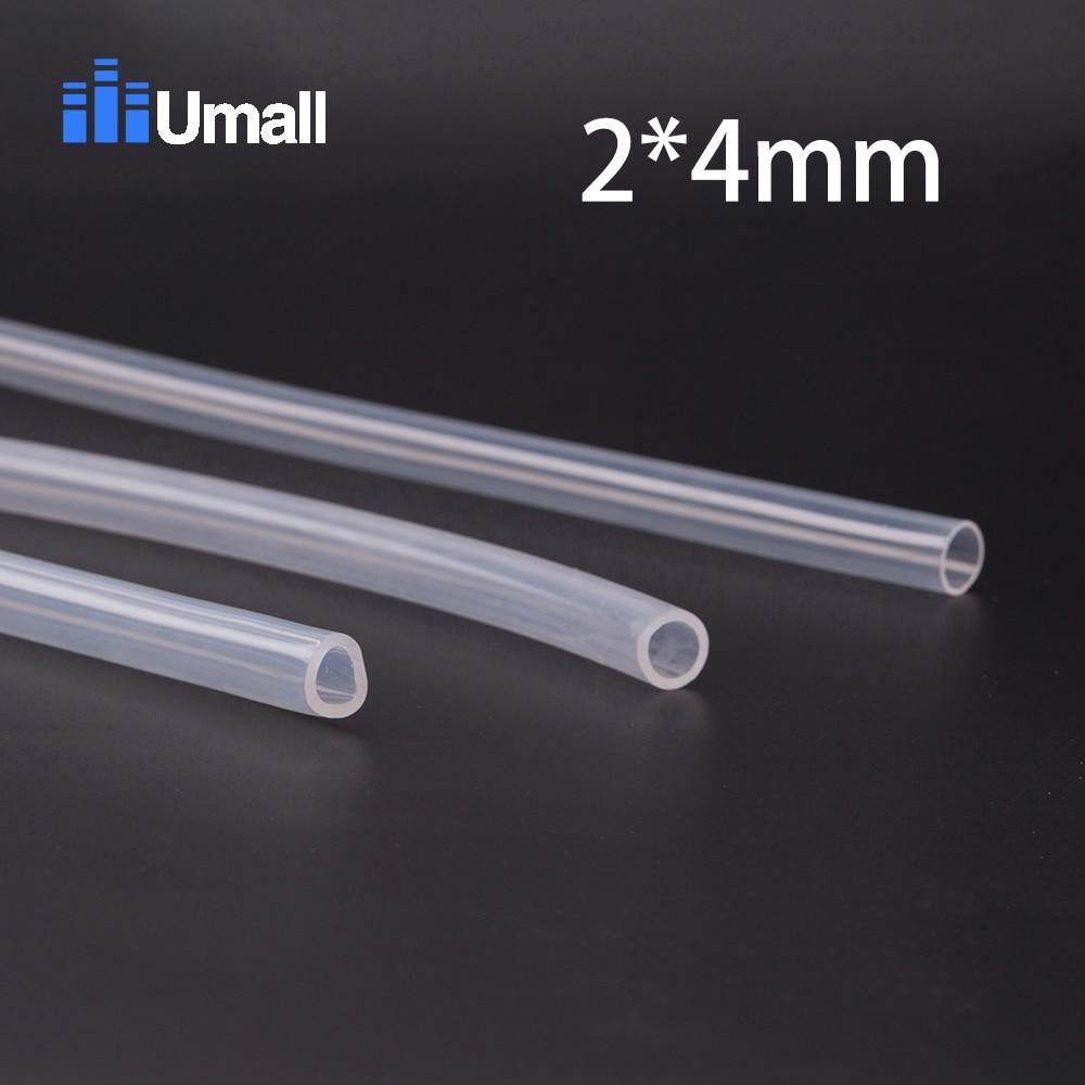 2*4mm Food Grade Medical Use FDA Silicone Rubber Flexible Tube / Hose Pipe
