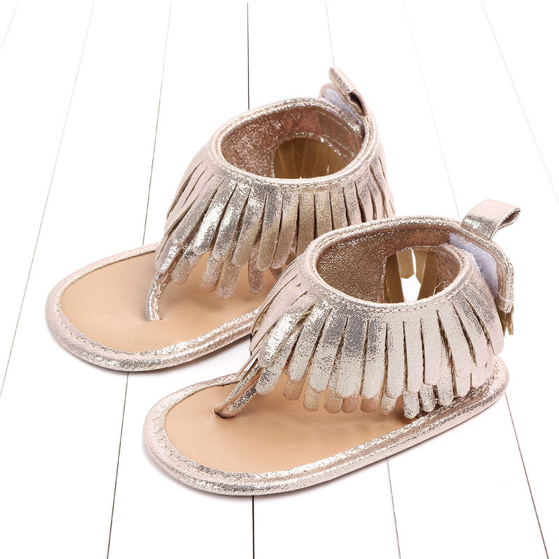 Baby comfortable sandals 2018 summer new boy girls beach shoes kids casual sandals children fashion Baby Girl Tassel Sandals (7)