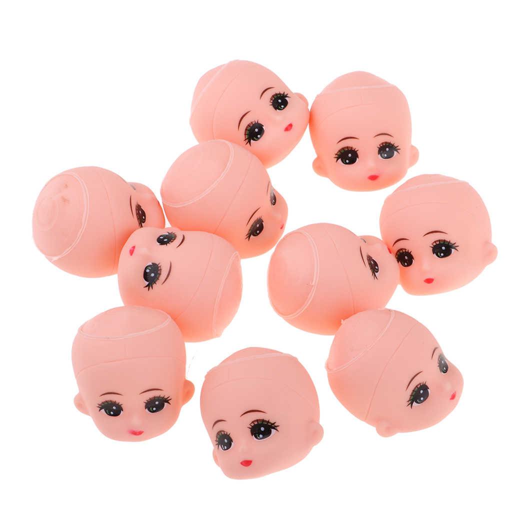 10 шт. большие глаза Детские куклы головы лепить без волос парик для мини брелок детские игрушки DIY пользовательские части тела