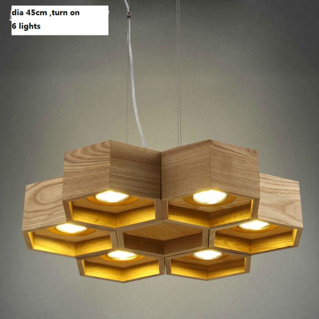 Plastra miodu drewniane dia45cm 6 światła Chiński styl ...